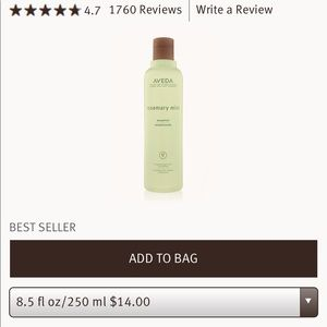 Aveda rosemary mint set